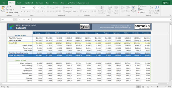 Profitloss Statement Excel Template Simple Excel Spreadsheet In How To Learn Excel Spreadsheets