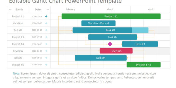 Project Gantt Chart Powerpoint Template   Slidemodel Within Project Timeline Templates