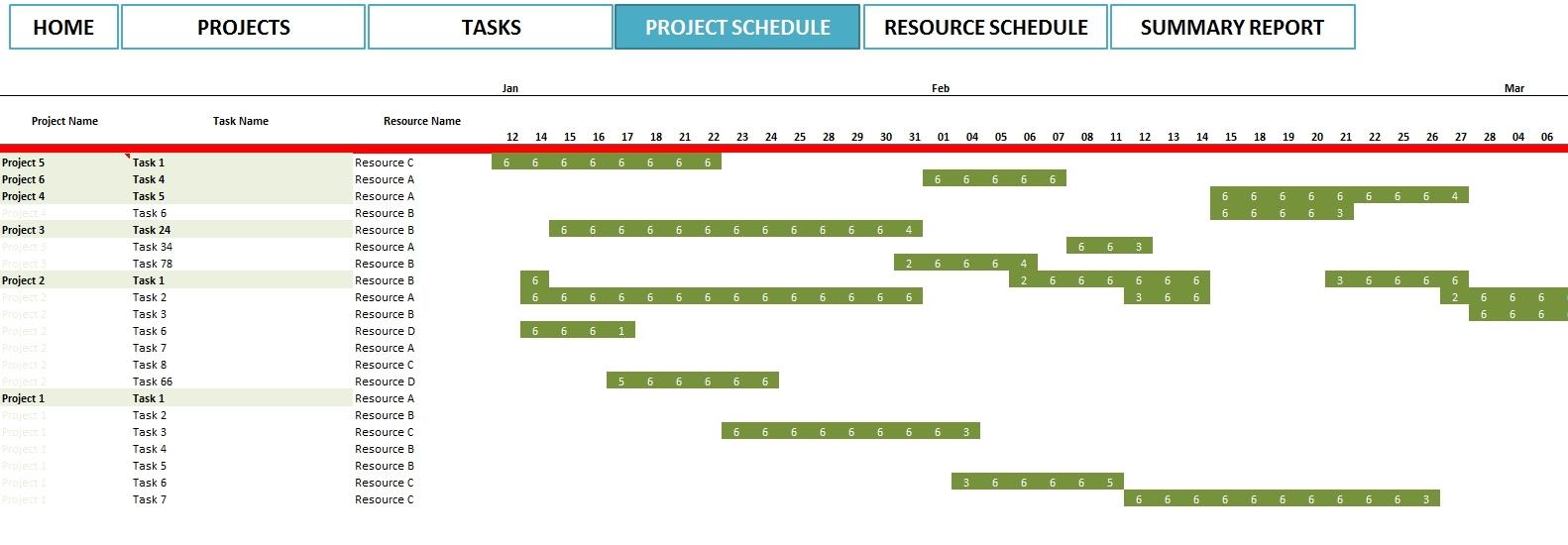 Project Management Calendar Excel | Calendar Template Excel To Inside Project Plan Timeline Excel