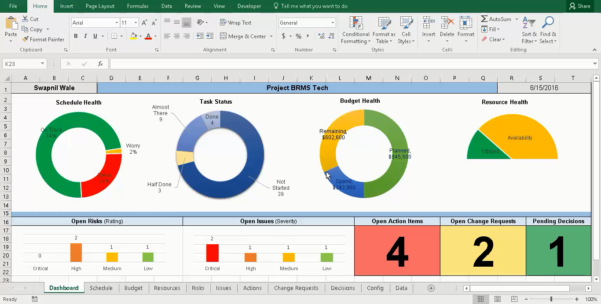 Project Management Excel Tracker Tracking With Master Manager Free With Project Management Tracker Free