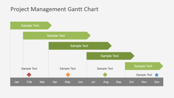 Project Management Gantt Chart Powerpoint Template   Slidemodel Intended For Project Timeline Schedule