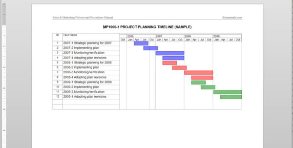 Project Planning Timeline Template In Project Timeline Templates