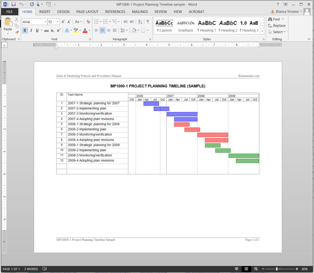 Project Planning Timeline Template Throughout Project Timeline Plan