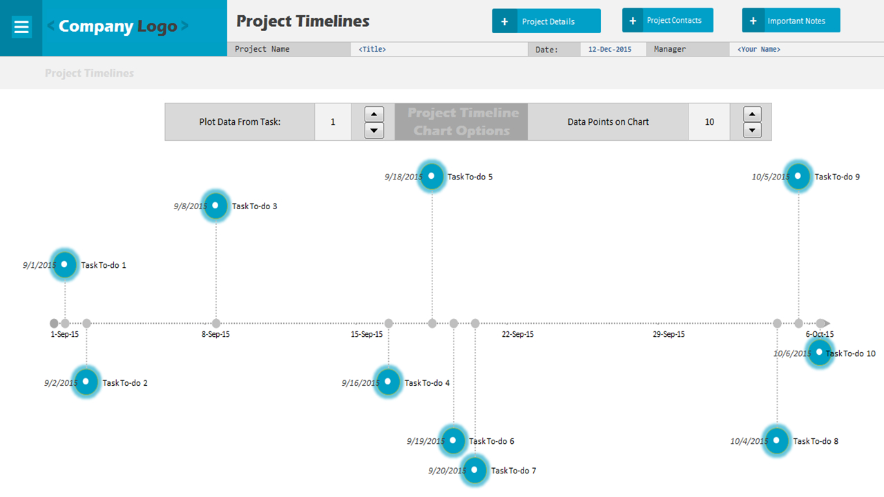 Project Time Line   Excel Project Management Templates With Project Timeline Template Excel 2010