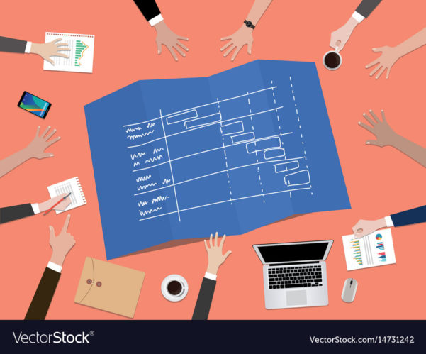 Project Timeline Schedule Concept Royalty Free Vector Image To Project Timeline Schedule
