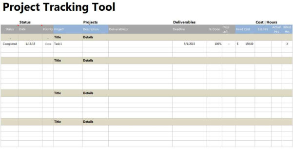 Project Tracking Spreadsheet Template Canoeontarioca Regarding Intended For Project Tracking Spreadsheet Template