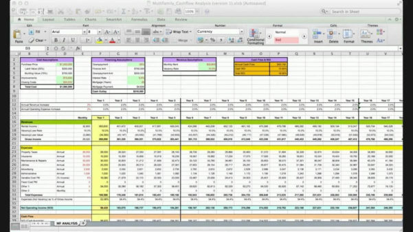 Property Analysis Spreadsheet Course   Joe Massey & Charles Roberts Within Spreadsheet Course