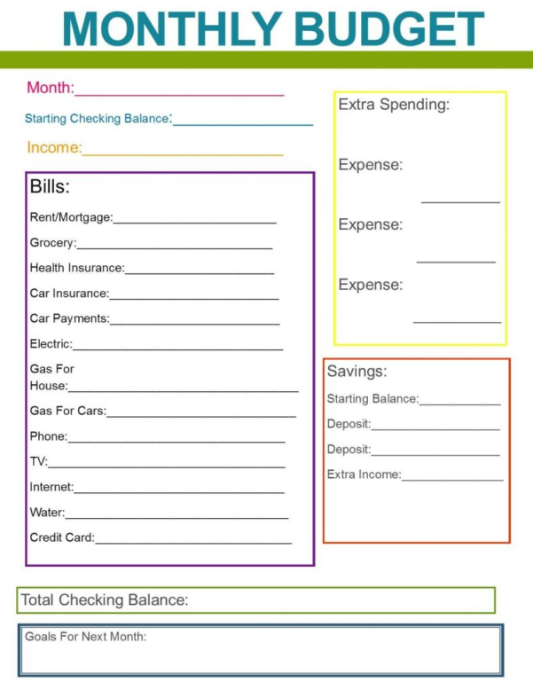 Quick Budget Worksheet New Bud Spreadsheet Free 2018 Printable Bud With Online Budget Calculator Spreadsheet