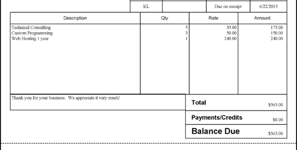 Quickbooks Invoice Solutions For Billing In Quickbooks Invoice Templates