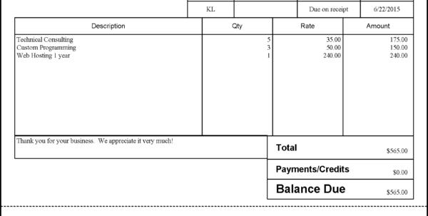 Quickbooks Invoice Solutions For Billing In Quickbooks Invoice Templates
