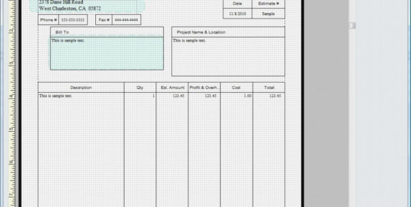 Quickbooks Invoice Template Excel | Invoice Sample Template Import And Quickbooks Invoice Templates