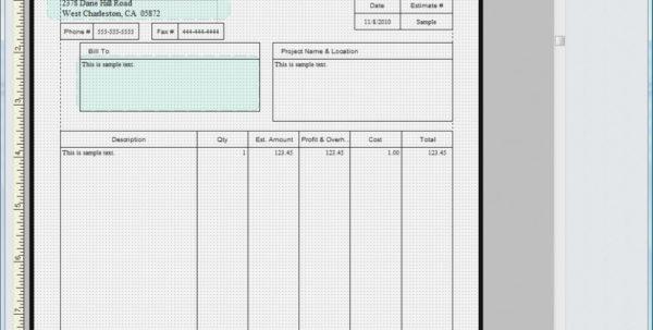 Quickbooks Invoice Template Excel | Invoice Sample Template Import And Quickbooks Invoice Templates