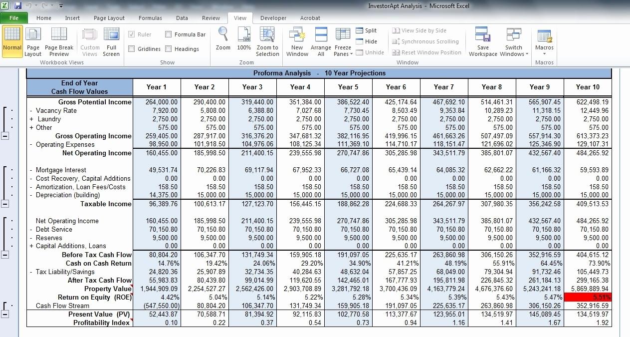 Real Estate Investment Analysis Spreadsheet Lovely Rental Property Inside Rental Property Analysis Spreadsheet