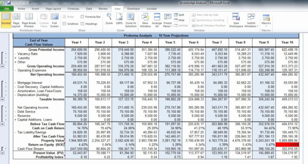 Real Estate Investment Analysis Spreadsheet Lovely Rental Property Intended For Investment Property Analysis Spreadsheet