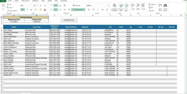 Real Estate Lead Tracking Spreadsheet And Real Estate Lead Throughout Lead Generation Tracking Spreadsheet