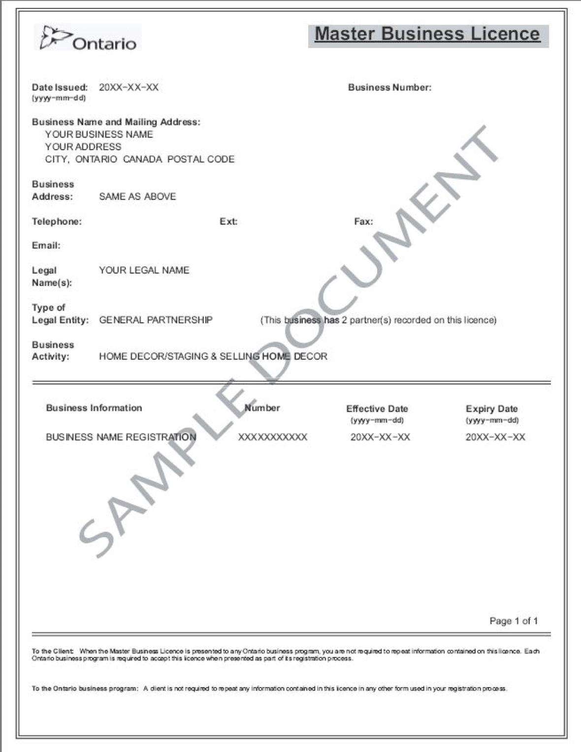 Registering Your Master Business Licence - Ontario Business Central Blog Inside Business Registration License