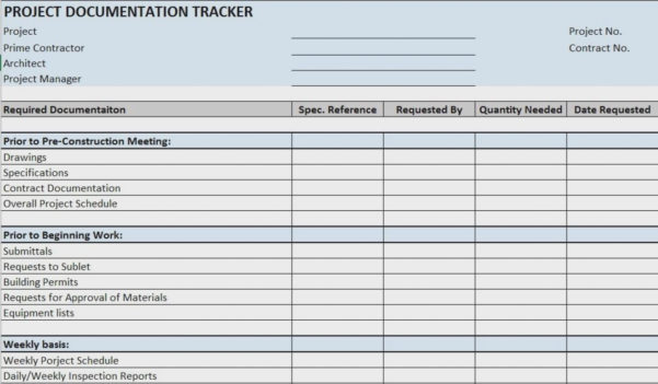Renovation Project Management Spreadsheet New Construction Templates And Project Tracker Spreadsheet