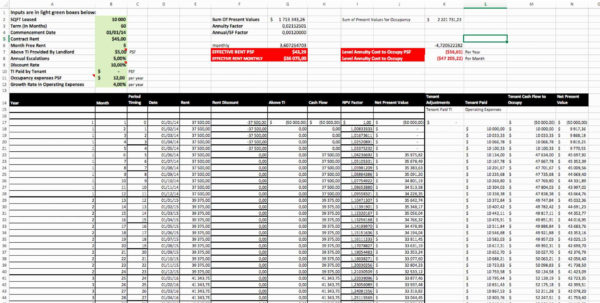 Rent Collection Spreadsheet And Calculate Effective Rent Excel For Rent Collection Spreadsheet