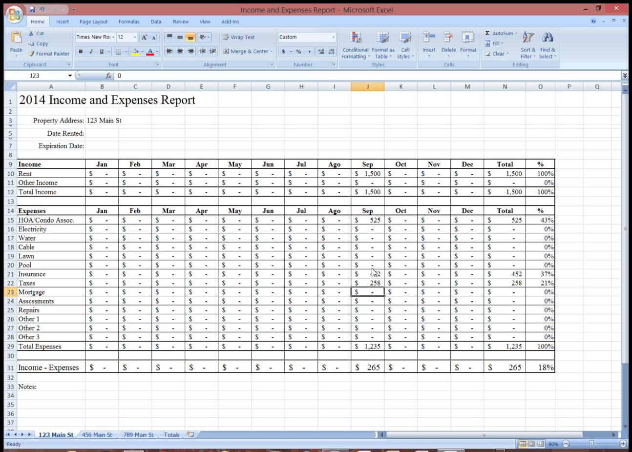 Rental Property Expense Tracking Spreadsheet | Homebiz4U2Profit Throughout Property Management Expenses Spreadsheet