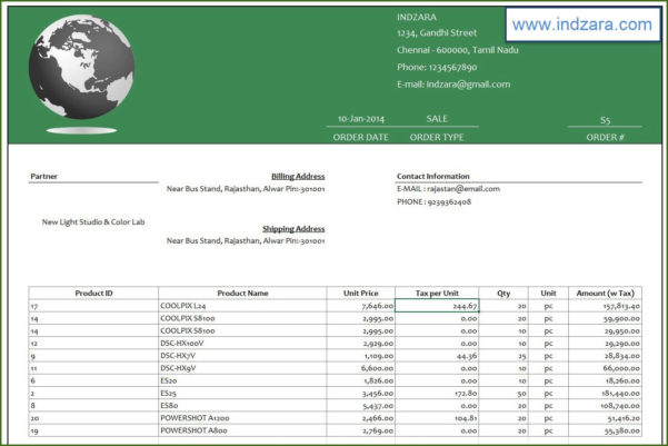 Retail Inventory Management Software   Excel Template   Invoice & Report In Sales And Inventory Management Spreadsheet Template Free