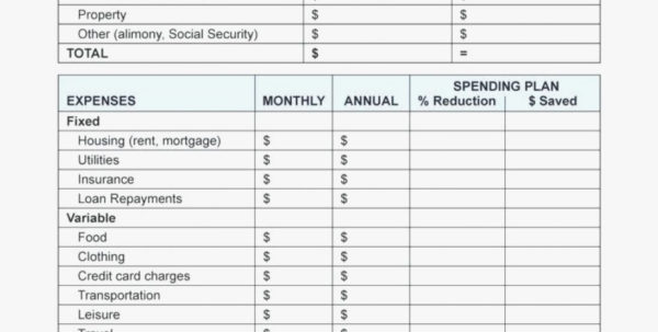 Retirement Excel Spreadsheet Planning With Personal Expenses In Financial Planning Excel Spreadsheet
