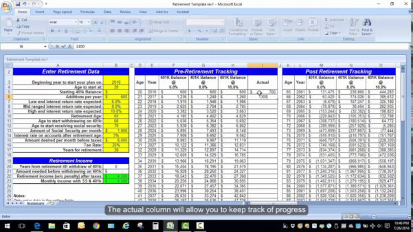 Retirement Planning Spreadsheet Excel Calculation Youtube Canada Uk Within Financial Planning Excel Sheet