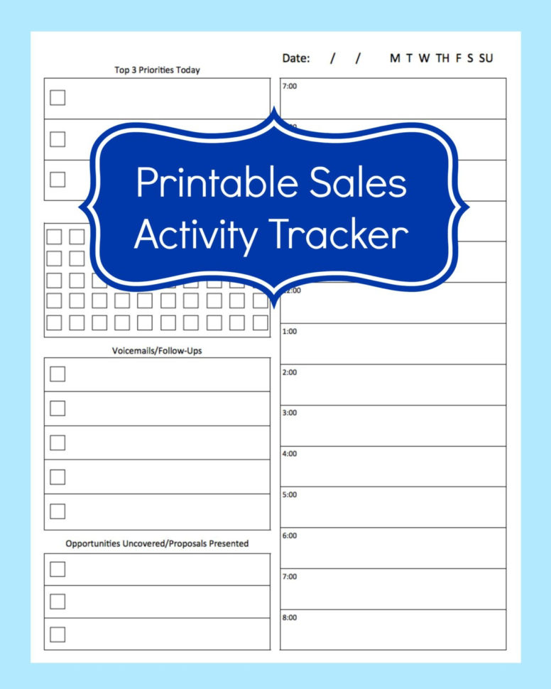 Sales Activity Tracker Daily Planner Cold Call Tracker | Etsy With Sales Call Tracker Template