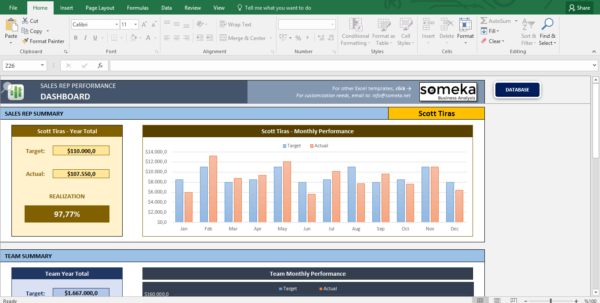 Salesman Performance Tracking   Excel Spreadsheet Template For Customer Tracking Excel Template
