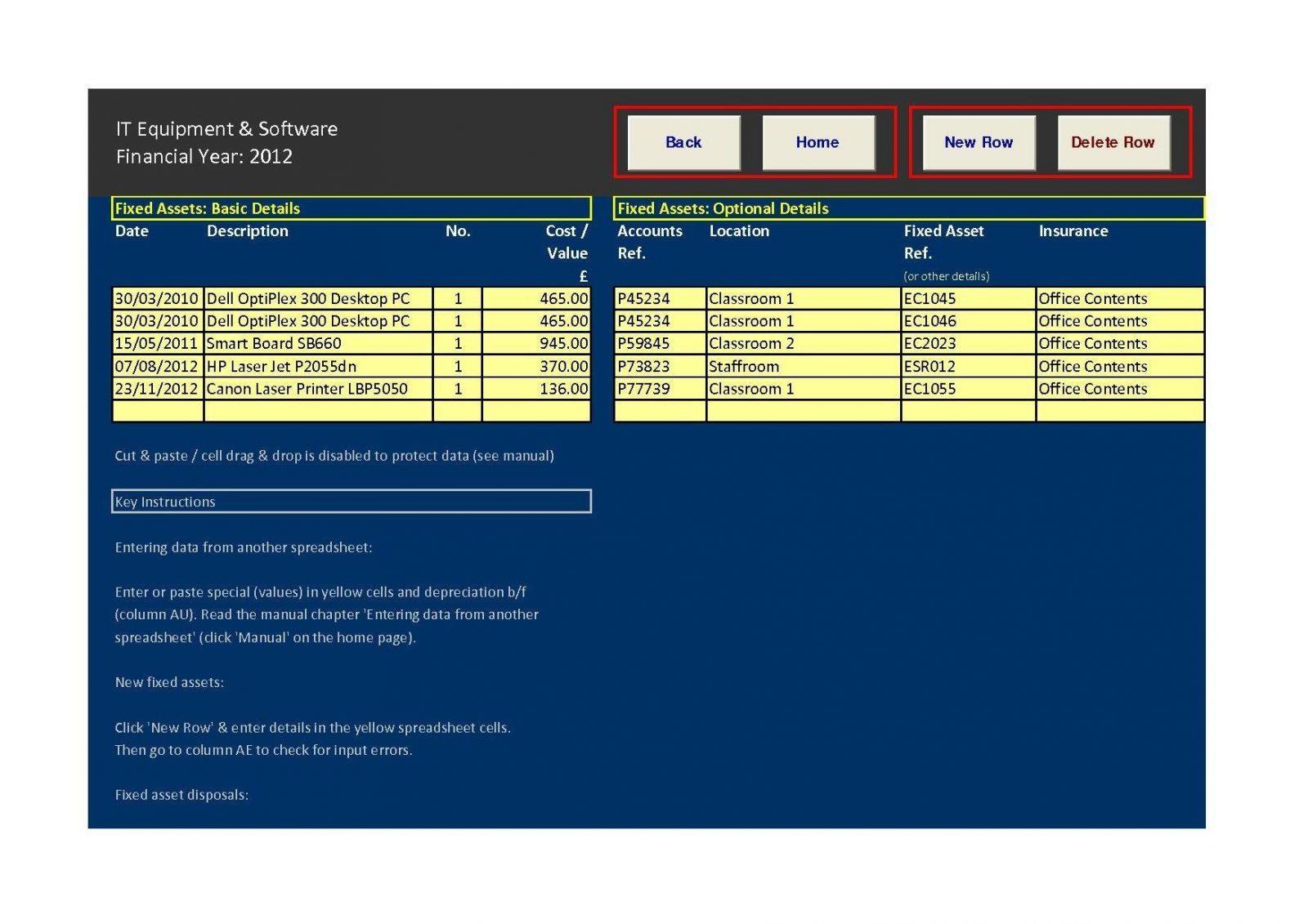Sample Asset Tracking Spreadsheet List Template Excel Example Of In Asset Tracking Spreadsheet