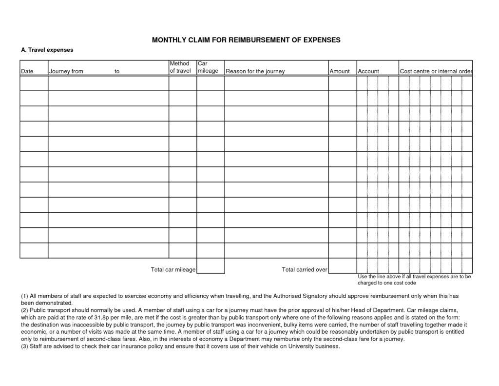 Sample Expense Form   Tagua Spreadsheet Sample Collection With Business Expense Policy Template