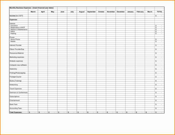 Sample Expense Report For Small Business Unique Good Monthly Within Monthly Business Expense Report Template