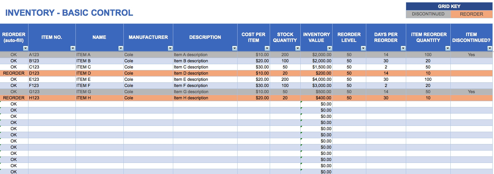 Sample Inventory Tracking Spreadsheet On Google Spreadsheet Inside Inventory Tracking Form
