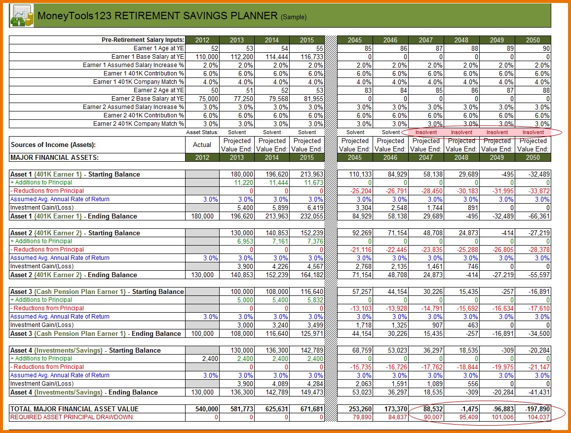 Sample Retirement Planning Worksheet Perfect Retirement Planning Within Retirement Planner Spreadsheet