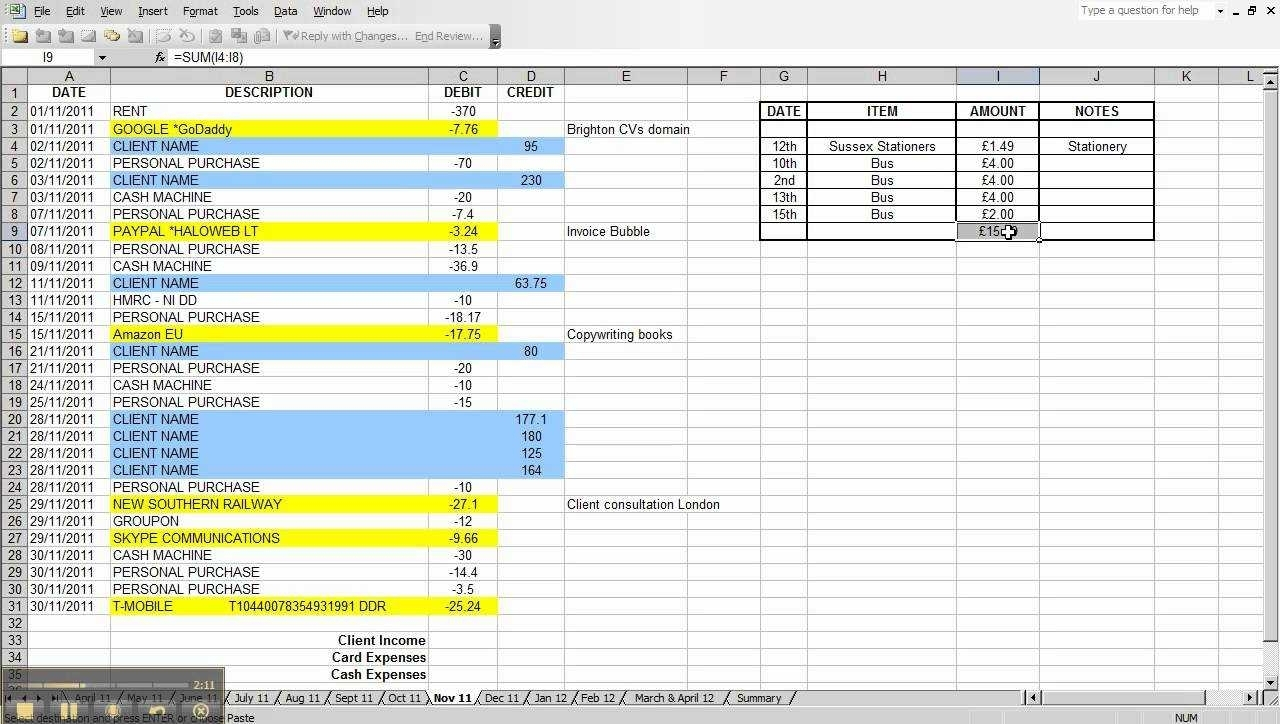 Sample Spreadsheet For Business Expenses Canoeontario.ca With Within Free Business Expense Spreadsheet