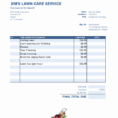 Samples Of Lawn Care Invoices Free Lawn Care Invoice Template Free Intended For Lawn Care Invoice Template