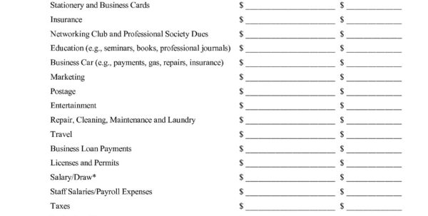 Self Employed Business Expenses Worksheet Inspirational Free Inside Self Employed Business Expenses Worksheet