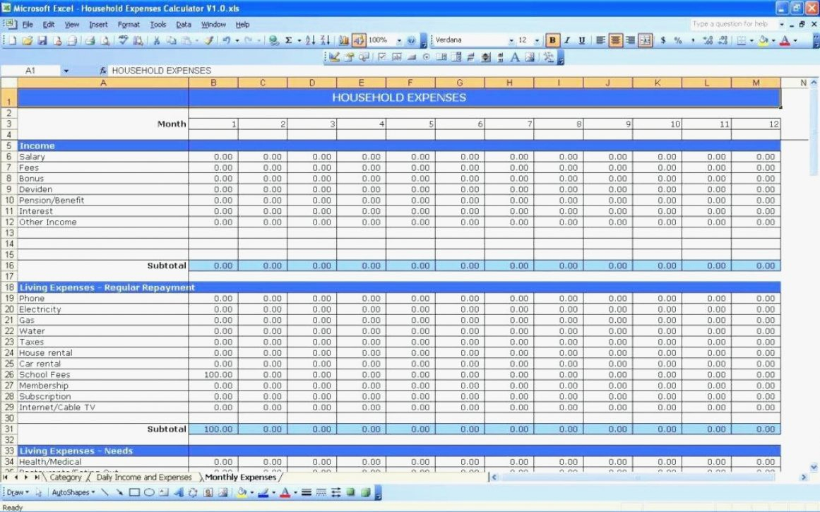 Self Employed Expenses Spreadsheet And Independent Contractor With Independent Contractor Expenses Spreadsheet