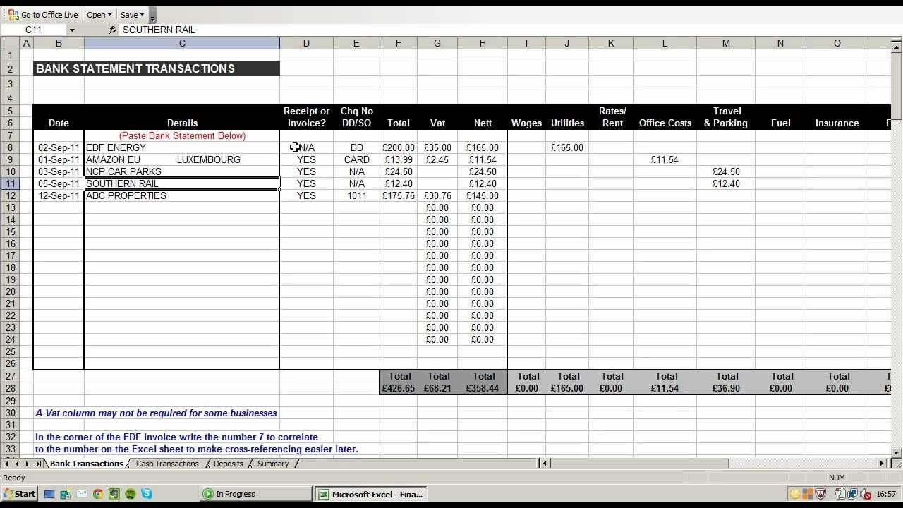 Self Employed Expenses Spreadsheet On Spreadsheet App Excel Within Excel Expenses Template Uk