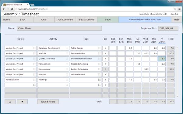 Senomix Online Timesheet   Employee Time Tracking App   Free Trial Inside Employee Time Tracking In Excel