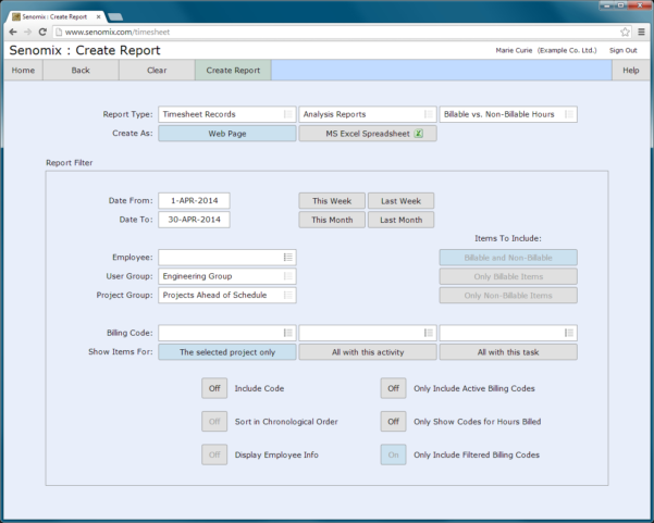 Senomix Timesheets   Easy Time Tracking Software Inside Excel Task Tracker Time Management Tool