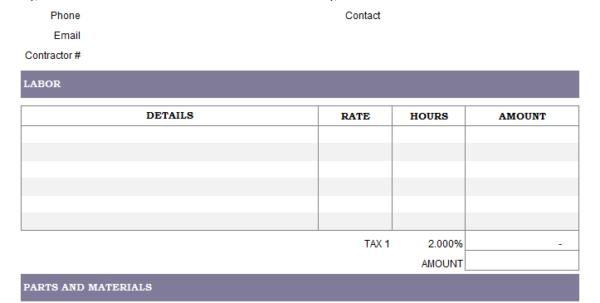 Service Invoice Template To Catering Service Invoice