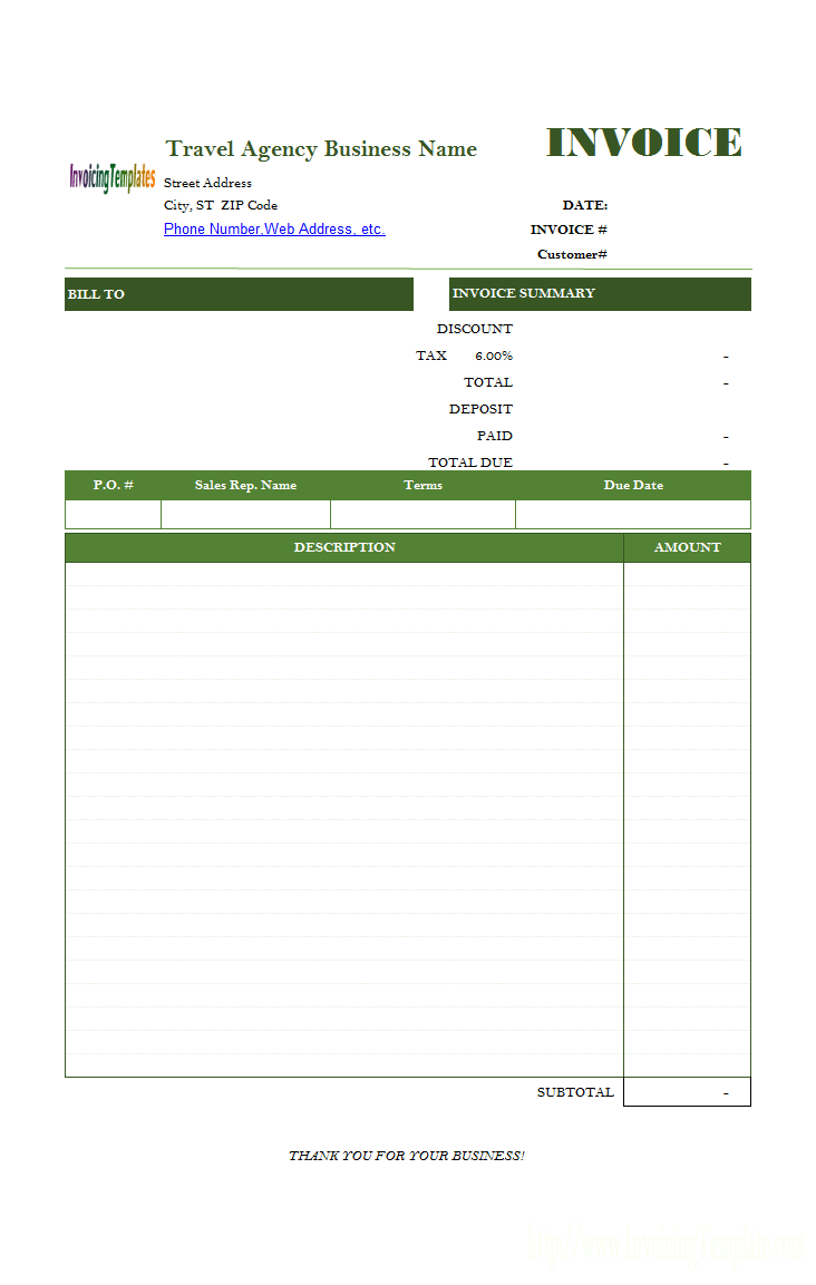 Service Invoice Template Within Catering Service Invoice