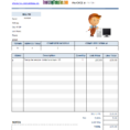 Service Invoice Template Within Medical Invoice Template