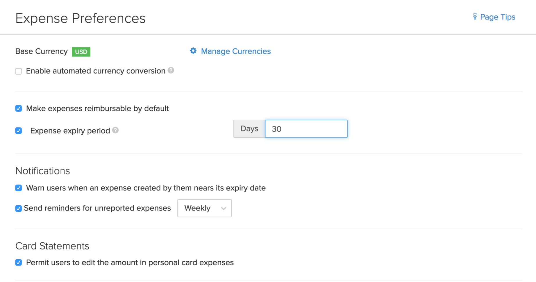 Settings | Zoho Expense | Help And Business Expense Policy Template