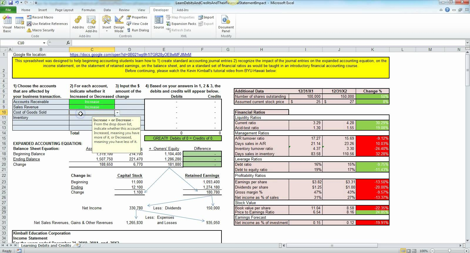 Simple Accounting For Small Business In Excel Free Template and Basic Accounting Spreadsheet Template