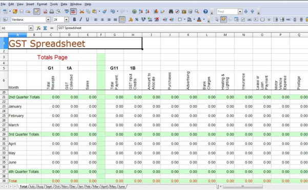 Simple Accounting Spreadsheet For Small Business | Nbd With Within Spreadsheet For Accounting