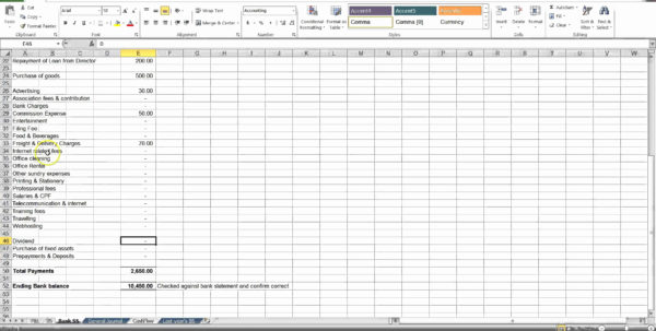 Simple Accounting Spreadsheet Fresh Sample Excel Accounting Within Simple Accounting In Excel