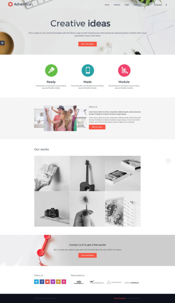 Simple Company Joomla Template   Joomla Monster Intended For Company Templates