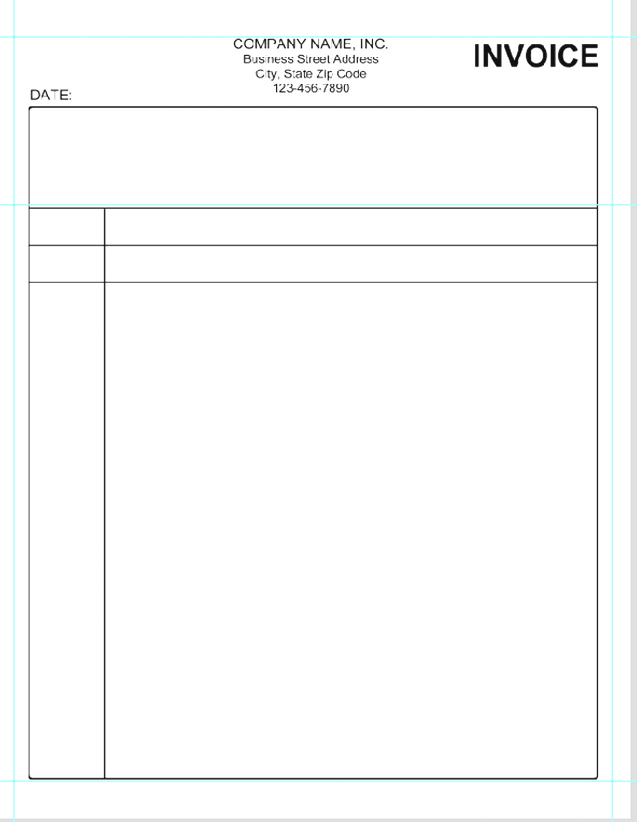 Simple Invoice Template Microsoft Word 1   Colorium Laboratorium For Invoice Templates For Microsoft Word