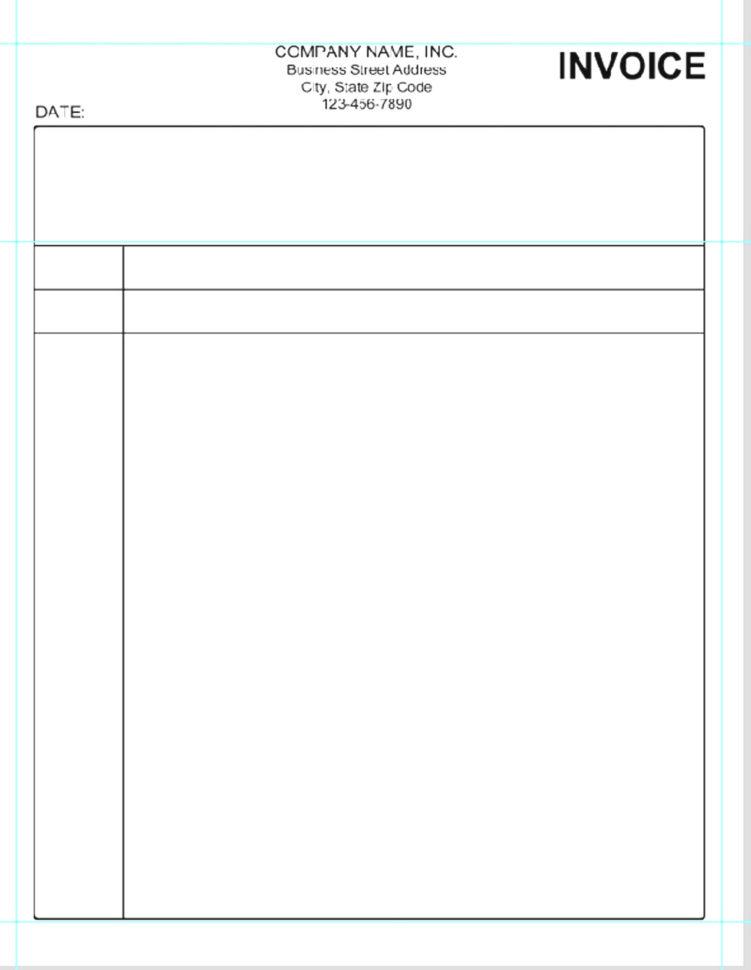 Simple Invoice Template Microsoft Word 1   Colorium Laboratorium With Invoice Template Microsoft Word